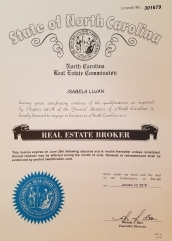 NC Real Estate Broker License
